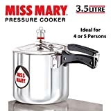 Hawkins Miss Mary Aluminum Pressure Cooker, 3.5 litres, Silver