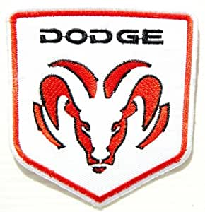 DODGE RAM Car Jacket Shirt Bag Ecusson brode Patch Iron on Embroidered Logo Badge