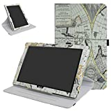 """Acer Iconia One 10 B3-A40 Rotating Coque,Mama Mouth 360 Degree Rotating PU Cuir debout Fonction Housse Coque Étui Couverture pour 10.1"""" Acer Iconia One 10 B3-A40 Android Tablet,Map"""