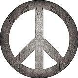 2D-Wandobjekt aus Holz | CND-Symbol | Friedenszeichen | Friedenssymbol | Peace | Holzbild | Shabby-Look | Landhaus | Vintage | Holzobjekt | Deko | Holzdruck | Geschenk, Größe:ca. 30x30cm