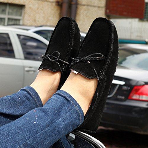 YiJee Loisirs Chaude Chaussures de Conduite Pour Hommes Chaussures Bateau Slip-on Mocassins Noir