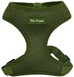 Hip Doggie HD-6PMHGR Ultra Comfort Harness Vest Hundegeschirr, XXL, olivegrün