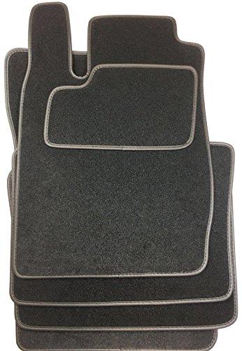 Tapis de sol pour Renault Clio 2 - Année de construction à partir de 1998-2005Cuir synthétique - Noir