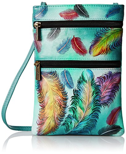 anuschka-mini-double-zip-crossbody-ffts-floating-feathers-one-size