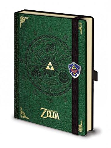 Preisvergleich Produktbild The Legend Of Zelda - Green- Premium - Offizielles Lizenz-Notizbuch im handlichen A5 Format - Größe 15x21 cm