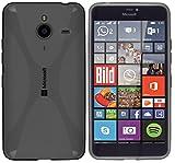 kazoj Schutzhülle Microsoft Lumia 640 XL Hülle im X-Design aus TPU in Transparent Schwarz