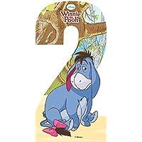 Self Adhesive Wheelie Bin Disney Numbers 17cm - 2 - Winnie the Pooh