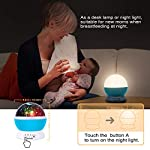 Moredig Night Light Lamp Projector, Star Light Rotating Projector, Star Projector Lamp with 8 Colors and 360 Degree Moon Star Projection with 2 Meters USB Cable, Unique Lamp for Children
