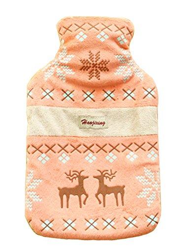 peluche-style-ethnique-bouteille-de-deer-eau-chaude-avec-cover-orange
