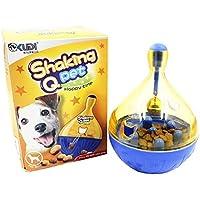 Paor Cat - Vaso dispensador de comida para perro, bola con campanas