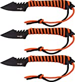 Survivor Outdoormesser, Set, orange & schwarz paracord gewickelter griff, SUVI-1244