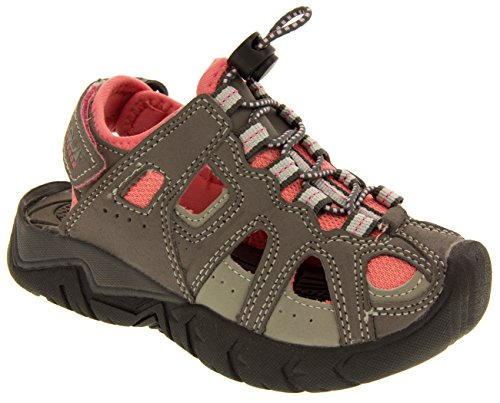 Gola Unisex Bambino Velcro regolabile per passeggiate ed escursioni sandali estivi Grigio e rosa
