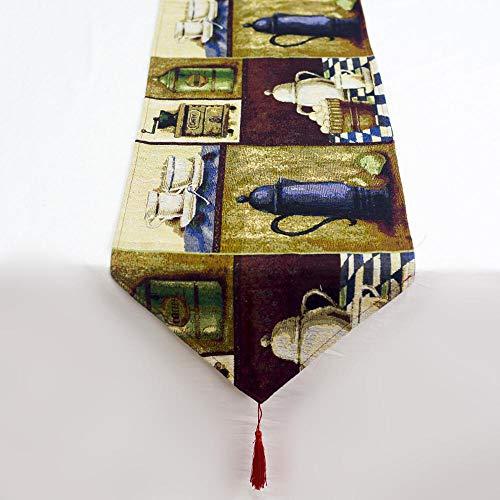 (FLYWS Weihnachtsschmuck aus Baumwolle Hanf Print Weihnachten Tisch Flagge Creative Christmas Coffee Table Mat)