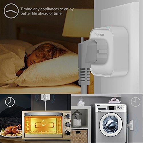 smart steckdose homecube intelligente wlan steckdose mit schalter verbrauchsanzeige timer. Black Bedroom Furniture Sets. Home Design Ideas
