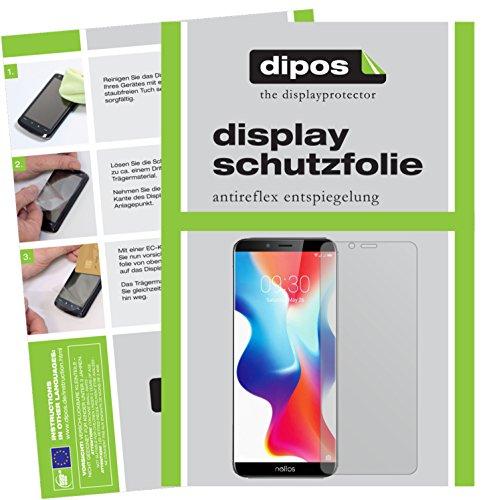 dipos I 2X Schutzfolie matt passend für TP-Link Neffos X9 Folie Bildschirmschutzfolie