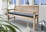 Destiny Bankpolster Destiny 110 cm Anthrazit Auflage für Gartenbank Bank Polster Struktur UNI mit Stehsaum