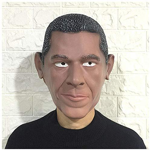 iger Präsident Obama Latexmaske Kopfbedeckungen American Funny Celebrity Headwear Maskerade Bar Performance Requisiten ()
