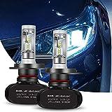 Greenclick 2*H4/ H7 Seoul-CSP LED phares Voiture Ampoules Etanche IP65 Car Headlight LED Véhicule Blanc Pur 6000-6500K Tout-en-un kit de conversion. (H4, S1)