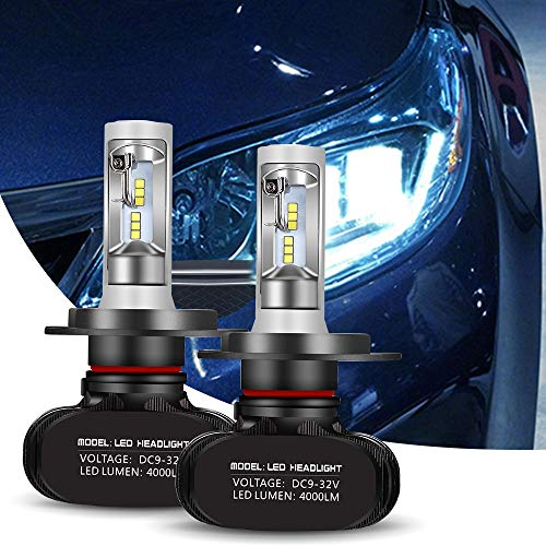 Greenclick 2*H4/ H7 Seoul-CSP LED phares Voiture Ampoules Etanche IP65 Car Headlight LED Véhicule Blanc Pur 6000-6500K Tout-en-un kit de conversion. (H7, S1)