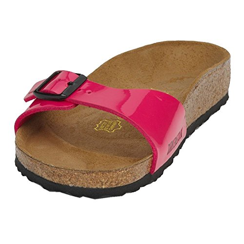 Birkenstock Madrid Patent Pink Womens Sandals Pink