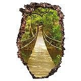 Bilderwelten 3D Wandtattoo - Dschungelbrücke - Hoch 3:2, Größe: 90cm x 60cm