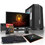 Fierce EXILE Gaming PC Desktop Computer Bundle - Fast 3.8GHz Quad Core AMD A-Series 7650K - 1TB Hard Drive - 16GB of 1600MHz DDR3 RAM / Memory - AMD Radeon R7 Integrated Graphics - HDMI, USB3, Wi-Fi - Perfect entry into PC Gaming - Windows Trial included - Keyboard and Mouse, 21.5-Inch Monitor, 2.1 Speakers - 3 Year Warranty - (408871)