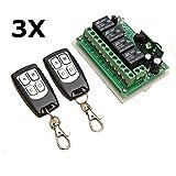 mark8shop 312V 4CH Kanal 433MHz Wireless Fernbedienung Switch mit 2Transmitter