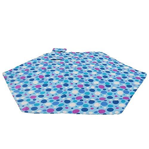 Outdoor-Produkte Hexagon Print Extra große Picknickdecke Sanddicht Mehltau resistent wasserdichte Decke Matte Outdoor Camping Matte gepolsterte Boden Gras Decke BBQ Matte 240 x 240 cm , erschwinglich