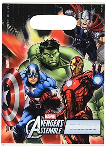 Procos 47109 NEU Partytüte Avengers (6-er Pack)