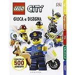 Gioca e disegna. Disegna e crea. Lego city. Con adesivi. Ediz. illustrata: Lego City - Gioca e disegna  LEGO