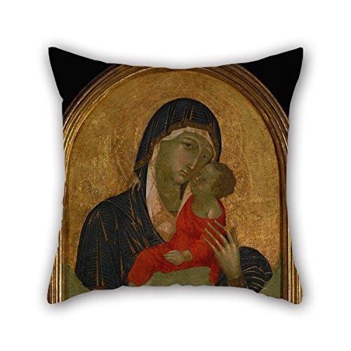 Kissenbezug Ölgemälde mit einer Badia Isola Überwurf Kissen–Madonna mit Kind, das beste für Deck Chair Stuhl, Mädchen, Geburtstag, für Kinder, Jungen, mit 2050x 80cm/50cm (Zwei Seiten)