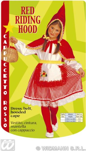 Imagen de widman  disfraz de caperucita roja para niña, talla 3  4 años 3470c  alternativa