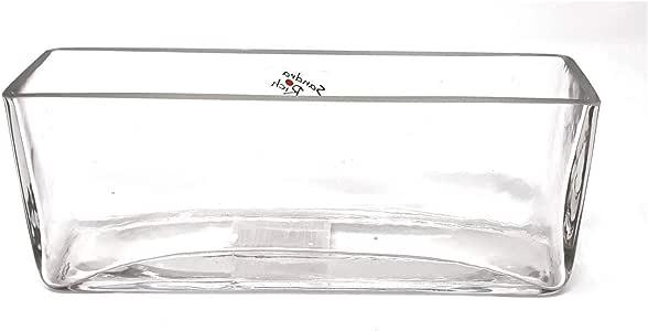 Sandra Rich Glasvase, Glasschale Deko Jardiniere rechteckig H. 8cm 20x5cm