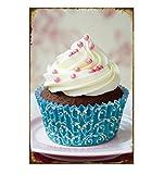 Lumanuby 1x Attraktiv Muffin Vintage Schild Plakat für die Dessert Shop Cupcake Metall Zeichen Wandposter für die Bäckerei, Bar Sprüche Serie Size 20*30.0CM