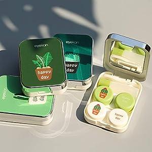 Aufbewahrungsbox für Kontaktlinsen, Cartoon-Motiv, tragbar, zufällige Farbe