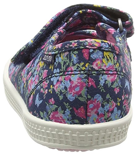 Start Rite Posy, Chaussures Bateau Fille Bleu (Navy Floral)