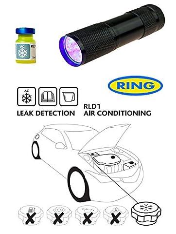 UV Dye & UV Torch Kit Ultra Violet Leak Detection Fluid For Air Conditioning RLD1