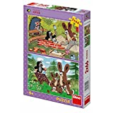 Dinotoys 385214 2x66 Stücke von hochwertigen PuzzleKleines Maulwurf-Motiv