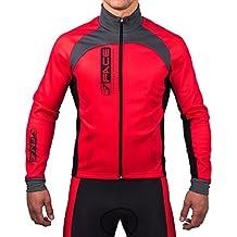 Giubbino ciclismo invernale windtex antivento termico Jello rosso traspirante bici mtb (M)