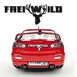 Frei Wild Schriftzug Tattoo für Das Auto Hirsch Aufkleber Sprüche Coole Sticker Fahrzeug Design |KB364
