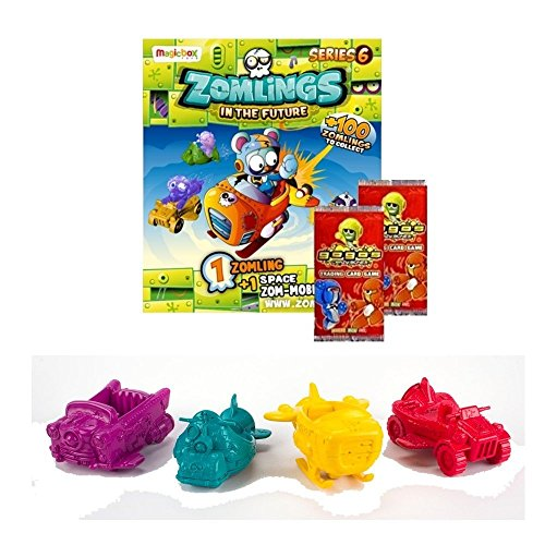 2 GoGo CARD PACKS ZOMLINGS SERIES 6 BLISTER PACK Includes Ultra Rare Zomling