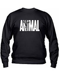 PF0001-FG FELPA GIROCOLLO ANIMAL PALESTRA SPORT MMA BODY BUILDING ALLENAMENTO HARD CROSSFIT