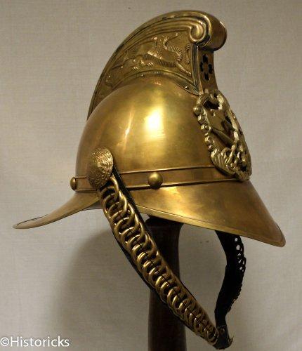 Antik British Feuerwehr Helm–Hand Made Messing Replica