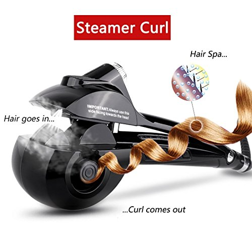 ARINO Curly Lockendreher Haar Curler Dampf Haar Anion Lockenstab Steamer Curler keramik Lockendreher Lockenstyler Welleisen Auto-Lockenstab Lockenmaschine Haarlocken Gerät Lockenwickler Hair Curling für Haarstying Stylingeisen Haarpflege Trend
