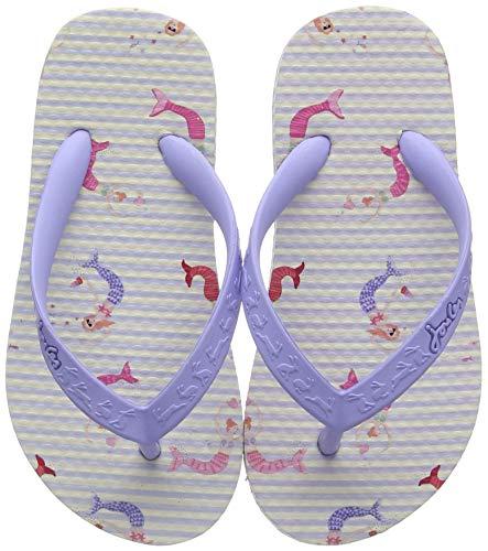 Joules Mädchen Flip Flop Zehentrenner, Elfenbein (Cream Mermaid Stripe Crmmmdstp), 28 EU