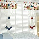 GWELL Kinderzimmer Gardinen Vorhang Schlaufenschal Dekoschal für Wohnzimmer Schlafzimmer 1er-Pack 220x130cm(HxB) rot