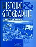 Image de Histoire et géographie, Terminale STT. Livre du professeur
