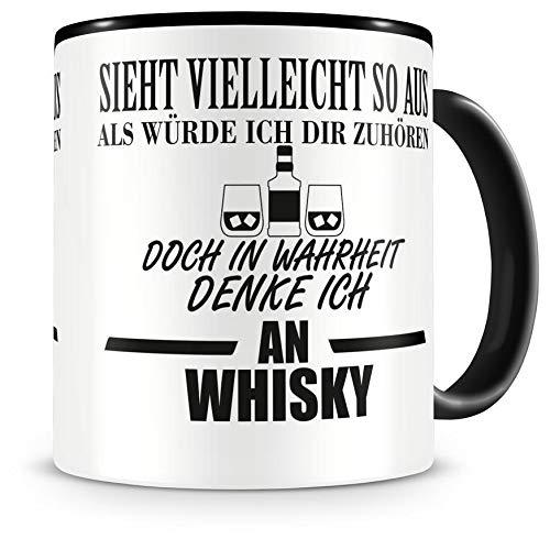 Samunshi Ich denke an Whisky Tasse Kaffeetasse Teetasse Kaffeepott Kaffeebecher Becher
