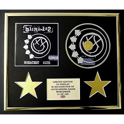BLINK 182/CD Display/Limitata Edizione/Certificato di autenticità/GREATEST HITS