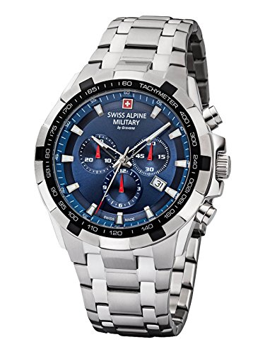 Swiss Alpine Military by Grovana Hombre Reloj Chrono 10 ATM Blue 7043.9135sam